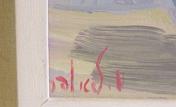 1252: Milia Laufer Israeli artist still life, oil on  c - 3