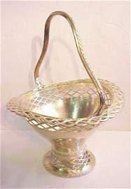 "2124: Gorham sterling silver basket 23""h x 16 3/4"" w,"