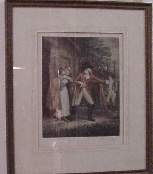 """2015A: """"The Elopement"""", turn or the century mezzotint,"""