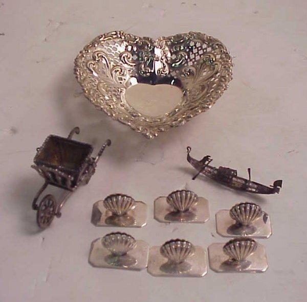 """1006: Gorham sterling heart dish 5"""" x 1 1/4"""", hallmarke"""