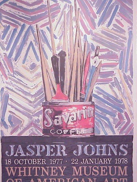 1019: Jasper Johns Whitney Museum exhibition poster,  1