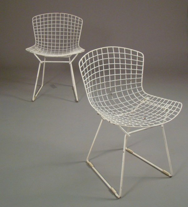2003: Harry Bertoia / Knoll pair of wire side chairs,