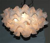 2189: Murano / Italy chandelier, molded leaf glass &  c