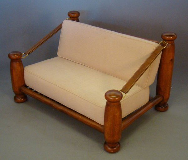 2006: Pierre Chapo, France settee, upholstered, lacquer