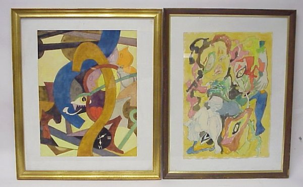 2009: Herman Higger (20thc USA) Two surreal watercolors