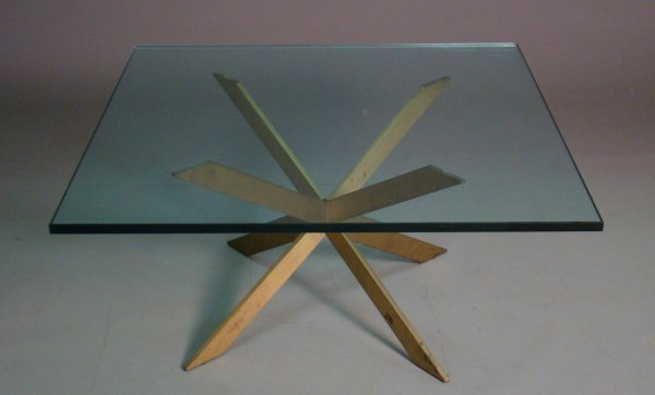 2010: Pace Collection cocktail table, patinated brass