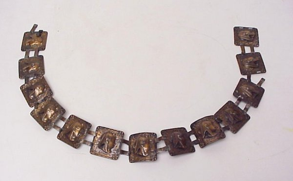 2011: Rebajes copper belt with Egyptian relief heads,