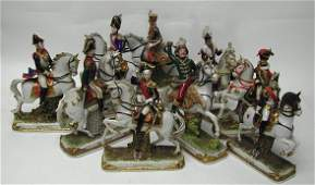 3116: Collection of Napoleon's Generals German Porcelai
