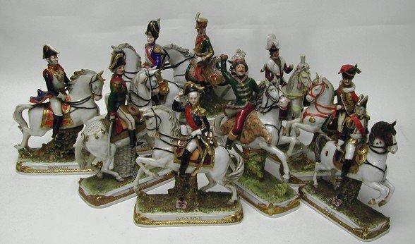 3116: Collection of Napoleon's Generals German Porcelai