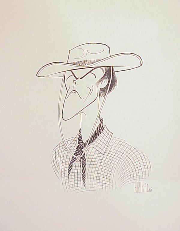 3021: Al Hirschfeld Clint Eastwood lithograph, pencil