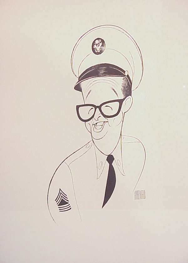 "3026: Al Hirschfeld Phil Silvers lithograph 14 3/4"" x 1"