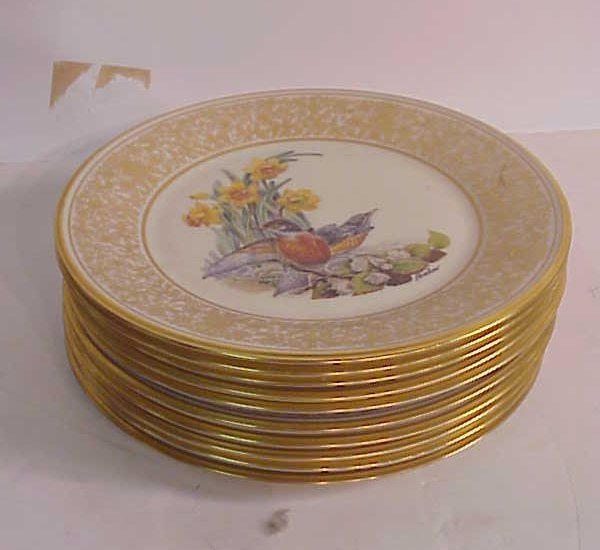 "3009: 10 Lenox Boehm bird plates 10 1/2"""