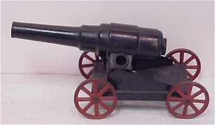 """TOY CARBIDE CANNON, 1920'S, 14"""" LONG OVERALL."""