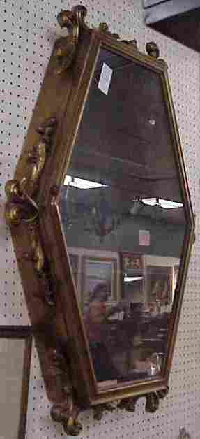 1025: MID 20THC COUNTRY FRENCH CURIO CABINET, PICKLED