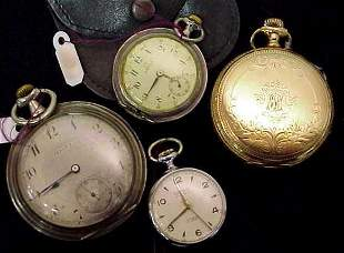 FOUR VINTAGE POCKETWATCHES
