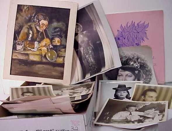 1032: WALTER FLORRELL PHOTOS & EPHEMERA, INCLUDES PROGR