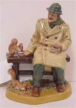"""ROYAL DOULTON """"LUNCHTIME"""" FIGURE, 7 3/4"""" HIGH."""