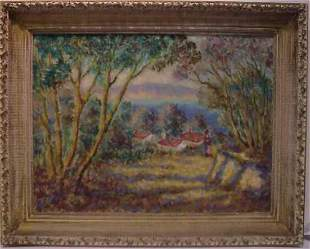 IMPRESSIONISTIC LANDSCAPE, OIL ON CANVAS, SIGNED