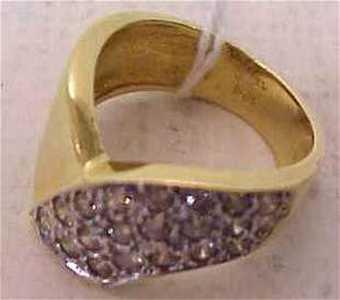 14K GOLD & DIAMOND COCKTAIL RING, APPROX 1 3/4 CT
