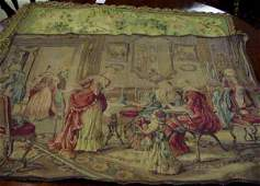 1238: THREE FRENCH STYLE TAPESTRIES, LOVERS SCENE