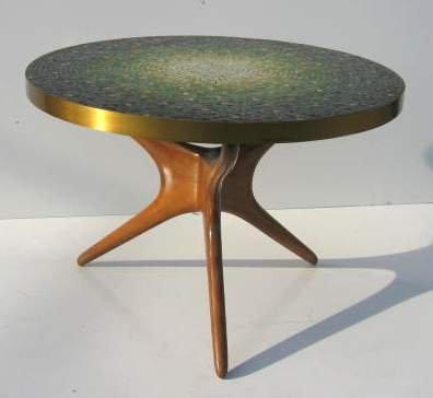 Kagan Coffee Table.2148 Kagan Coffee Table Tri Symetric Mosaic Top