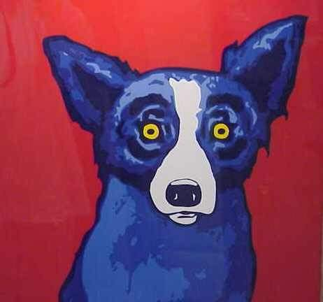 2263: GEORGE RODRIQUE (1944-, NEW ORLEANS) BLUE DOG, LI - 2