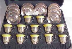 166 Lenox and Gorham sterling silver demitasse set C