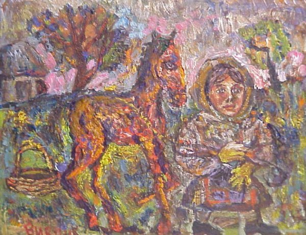 1193: David Burliuk Russian/American paintings