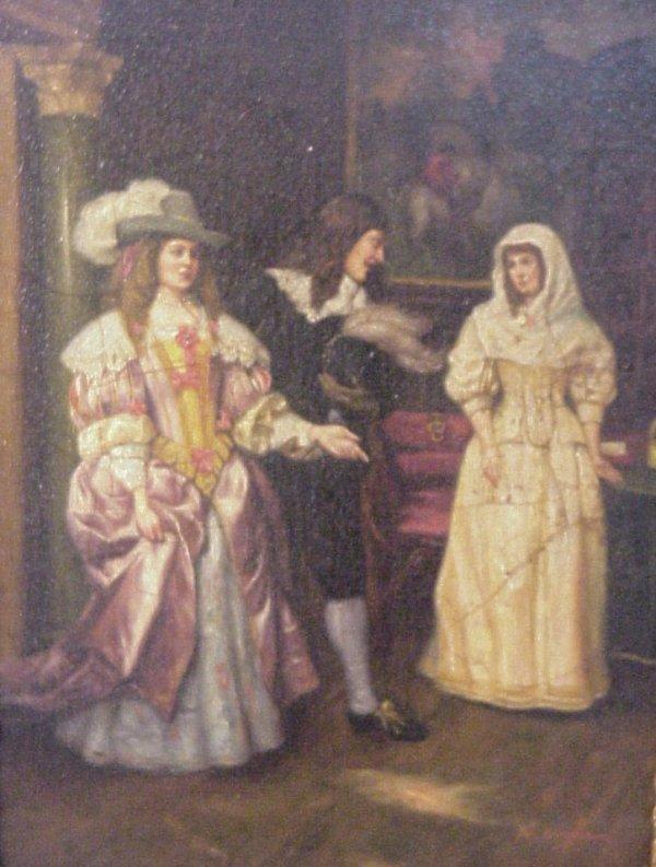 1019: Nicholas Bingham (1703-1753 British) Interior  ge