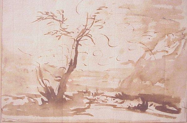 1024: Francesco De Guardi (1712-1793 Italy) sketch for