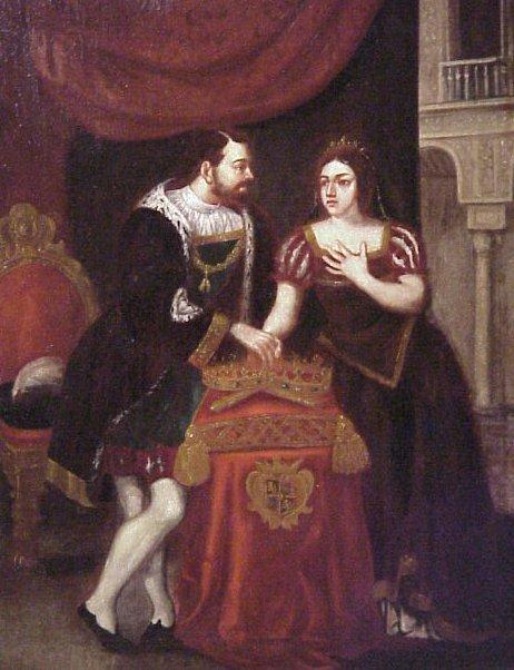 1030: 18th Century  Spanish interior genre scene,  roya