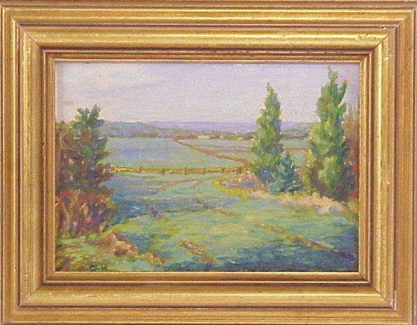 1003: American School impressionistic landscape, oil on