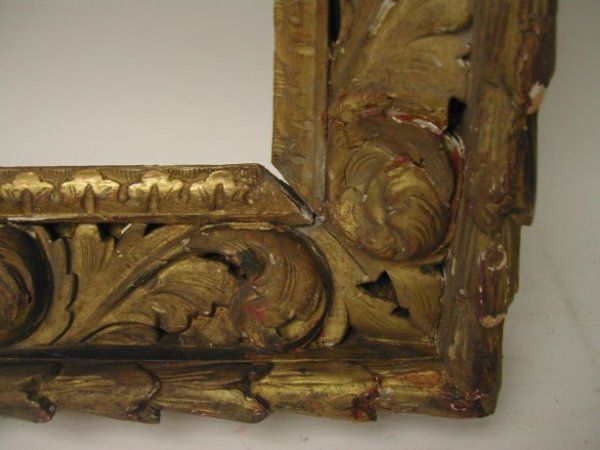 1009: Carved 17th/ 18th Century picture frame Baroque,  - 2