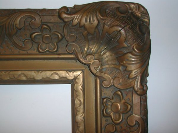 1017: Carved 19th Century Rococco picture frame, wood
