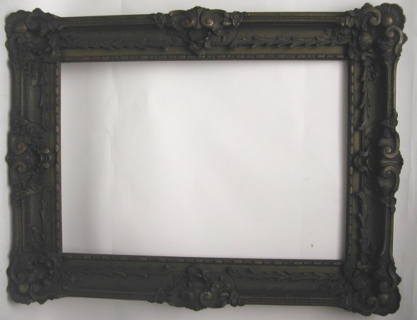 1023: 19th Century Elaborate Rococco picture frame, woo