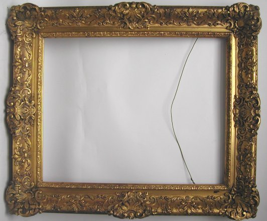 1029: 19th Century Elaborate Rococco picture frame, woo