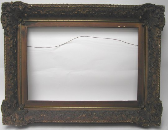 1033: 19th Century Elaborate Rococco picture frame, woo