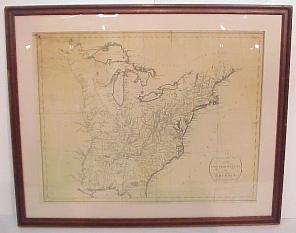 2004: 1793 Map of United States of America, Treaty of