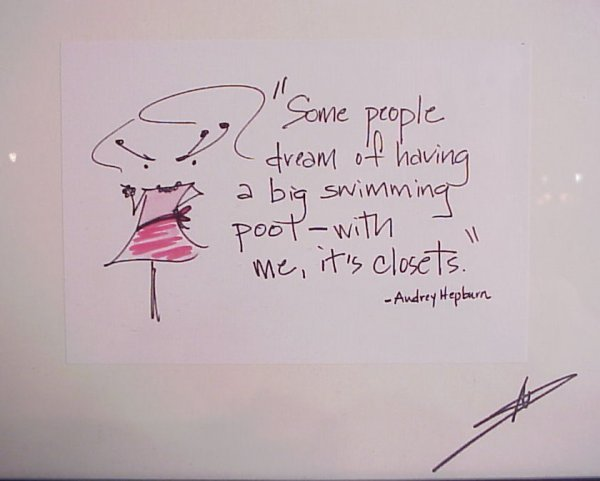"2007: 2 Audrey Hepburn framed, autographed quotes, 8"" x - 2"