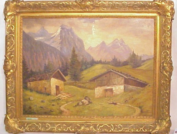 2015: Paul Gotz-Racknitz (1873 - 1952 German), mountain