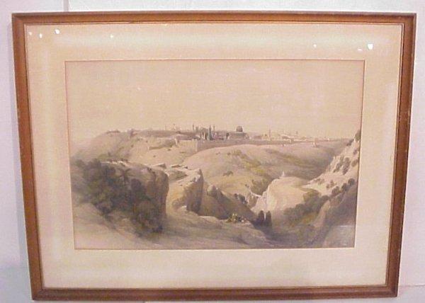 "2020: 19thc David Roberts Jerusalem lithograph, 13"" x"