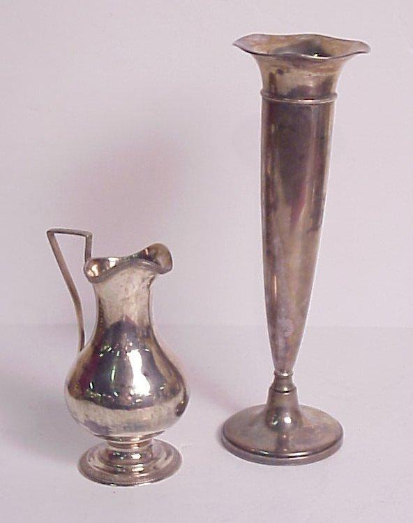 3024: W Gale & Son ca. 1863 sterling ewer with Greek ke