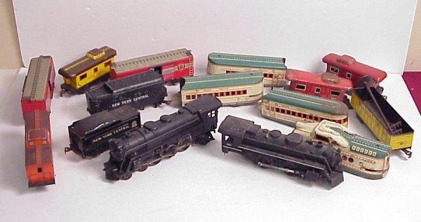 3007: Marx train lot - engine 666, engine 333 with  NYC