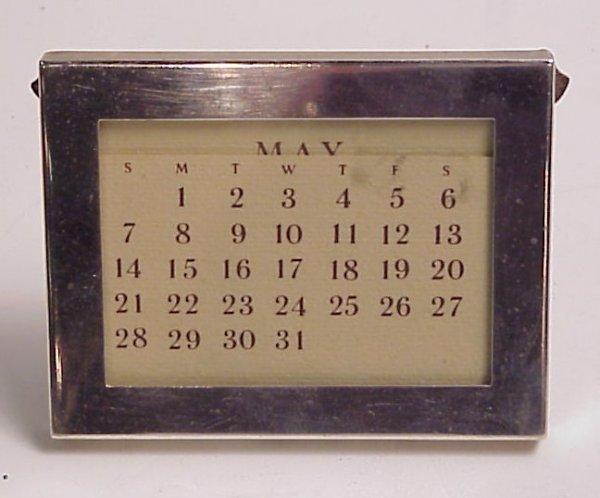 """3011: Tiffany sterling silver calendar frame, 3"""" x 3  3"""