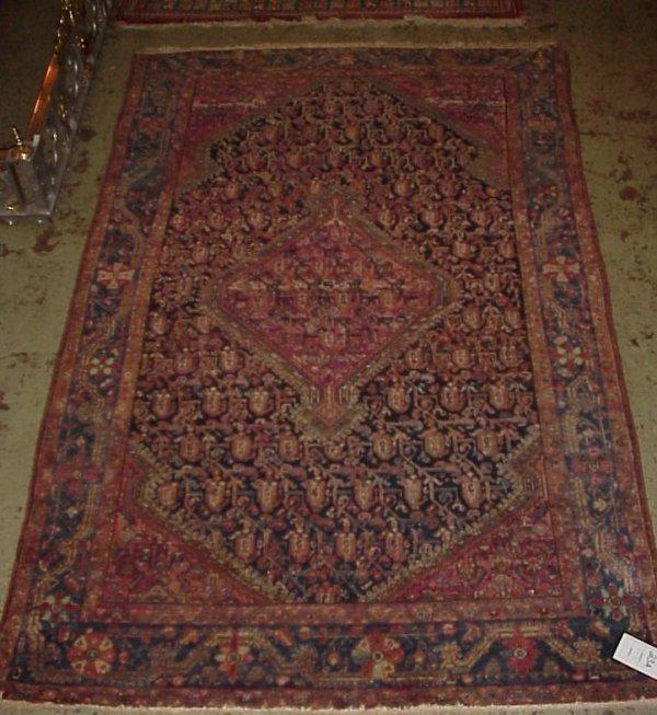 3023A: Semi antique Hamadan carpet, 5' x 7'