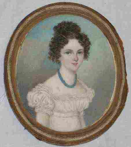 3068: 18/19THC AMERICAN MINIATURE PORTRAIT OF A YOUNG W