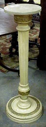 3022: CLASSICAL STYLE PEDESTAL, CARVED AND PAINTED