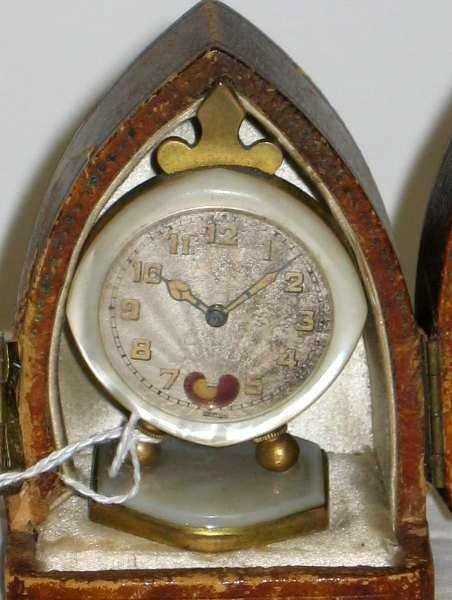 3027: EARLY SWISS WATCH, MOTHER OF PEARL SURROUND & BAS