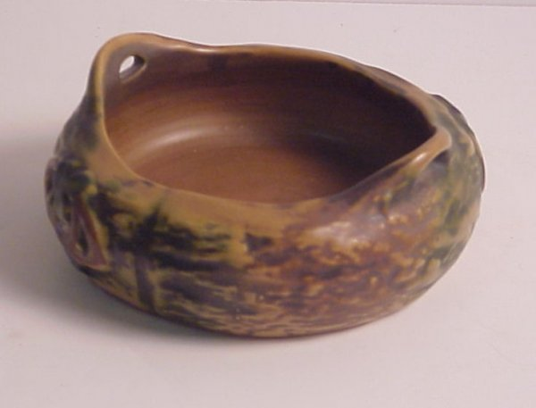 "32A: Green  Roseville Imperial bowl, 6 1/2"", no mark,"