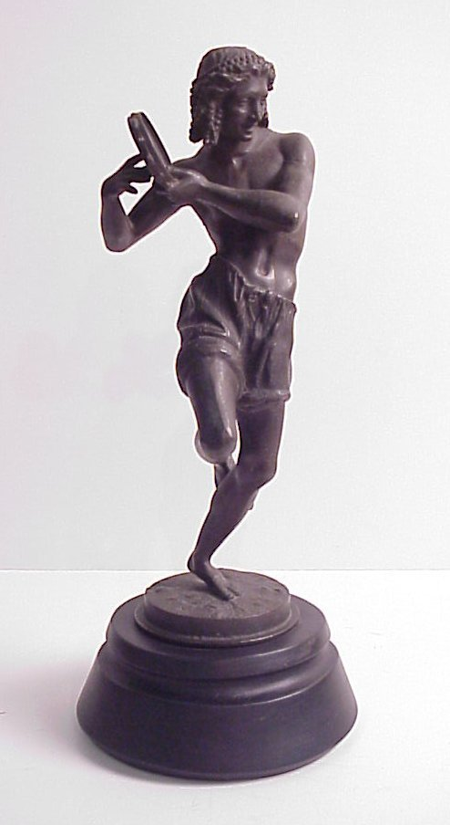 7: 19/20thc spelter figure of a tambourine player 14  1